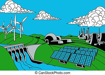 Energy Generation Sources - Power or energy generation...