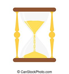 hourglass icon Vector - hourglass isolated on white...