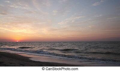 Dawn on the sea shore