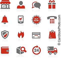 e-Shopping Redico Series - Vector icons for your digital or...