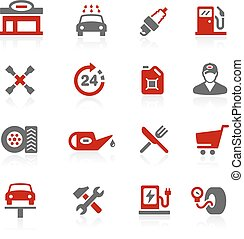 Gas Station Redico Series - Vector icons for your digital or...