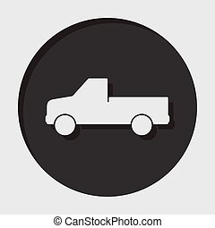 information icon - pickup with a flatbed - information icon...
