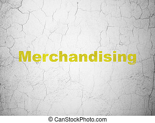Marketing concept: Merchandising on wall background