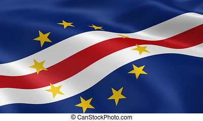 Cape Verdean flag in the wind. Part of a series.