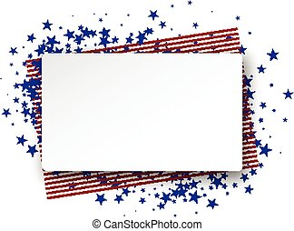 USA flag background. - Background with American flag. Vector...