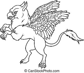 Coloring page of magic flying griff