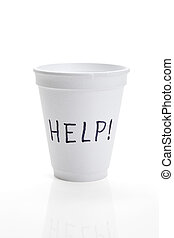 Begging - Disposable Cup, help, concept of Begging