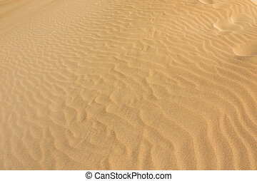 Closeup texture of white sand dune system at Little Sahara, South Australia