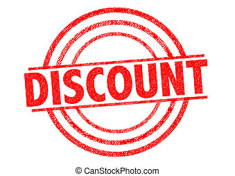 DISCOUNT Rubber Stamp - DISCOUNT red Rubber Stamp over a...