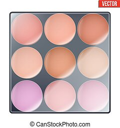 Colourful of Make Up Palette Beauty and cosmetics design...