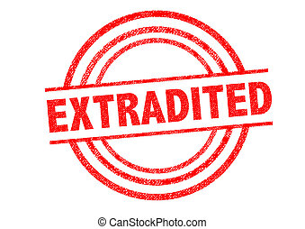 EXTRADITED Rubber Stamp over a white background