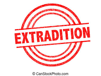 EXTRADITION Rubber Stamp - EXTRADITED Rubber Stamp over a...