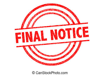 FINAL NOTICE Rubber Stamp over a white background