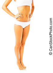 Fit and slim female body