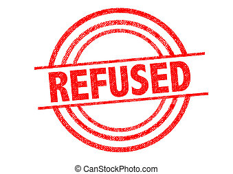 REFUSED Rubber Stamp over a white background