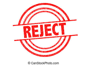 REJECT Rubber Stamp
