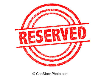 RESERVED Rubber Stamp over a white background