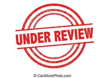 UNDER REVIEW Rubber Stamp over a white background