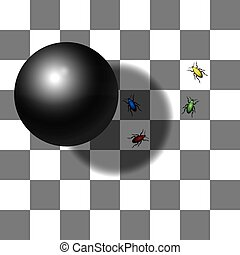 Optical Shadow Illusion Chessboard - Optical shadow illusion...