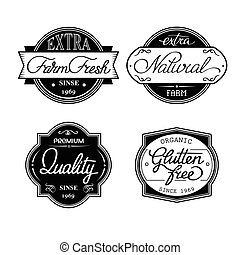 set of universal bottle labels - Design set of universal...