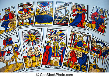 Tarot cards - Tarot was not widely adopted by mystics,...