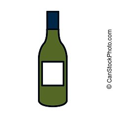 Delicious and traditional wine bottle. - Delicious and...