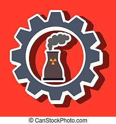 signal of reactor isolated icon design, vector illustration...