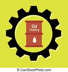 signal of barrel oil isolated icon design