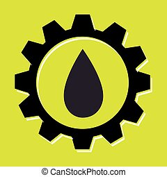 signal of oil isolated icon design