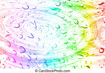Drop water - abstract drop water background with motion blur...