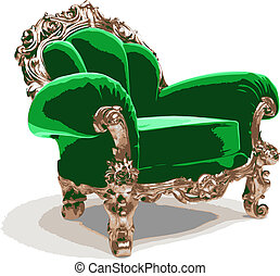 isolated classic chair (vector)