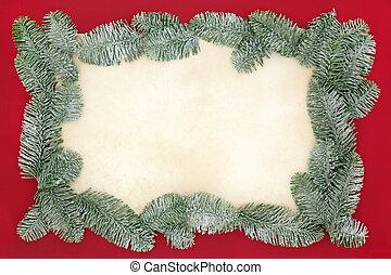 Christmas Spruce Fir Background Border