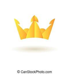 Crown king logo symbol icon vector