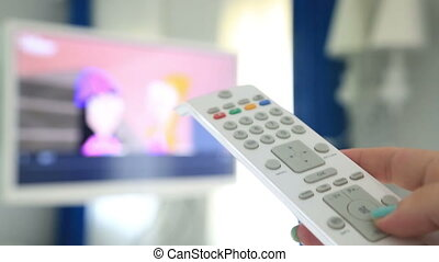 Channel Surfing With Tv Remote Control In Hand