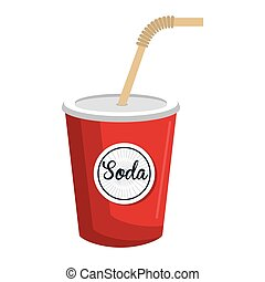 Delicious and cold soda theme design icon.