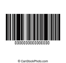 Bar code with serial number icon. - Bar code with serial...