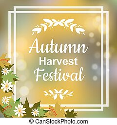 Autumn harvest festival. Vector colorful illustration on...