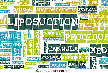 Liposuction Medical Procedure as a Concept Art