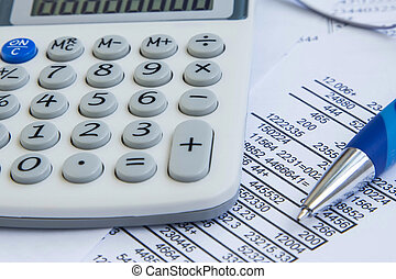 Financial accounting with stats ,papers and calculator