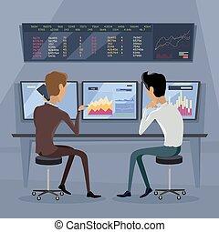 Modern Online Trading Technology Illustration - Modern...