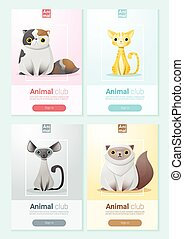 Animal banner with Cats for web design 1
