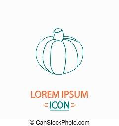 Pumpkin computer symbol