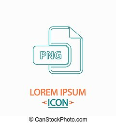 PNG computer symbol - PNG Flat thin line icon on white...