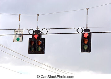 trafic stoplight series red stop - Traffic stoplights...