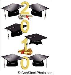 grad caps and 2010 text