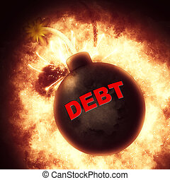 Debt Bomb Financial Obligation - Debt Bomb Showing Financial...