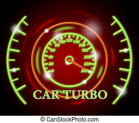 Car Turbo High Speed - Car Turbo Indicating High Speed And...