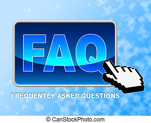 Faq Button Frequently Asked - Faq Button Representing...