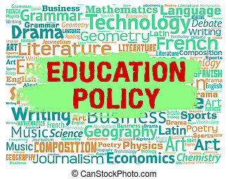 Education Policy Meaning Educating Training And Learned