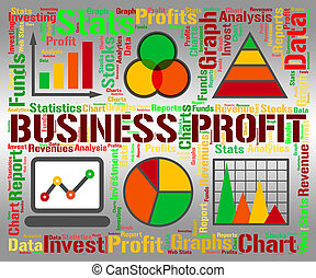 Business Profit Infograph - Business Profit Showing...